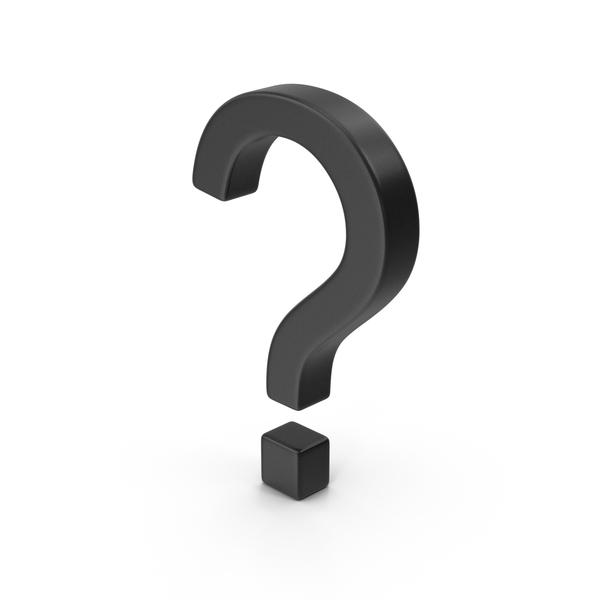 Symbols: Question Mark Black PNG & PSD Images