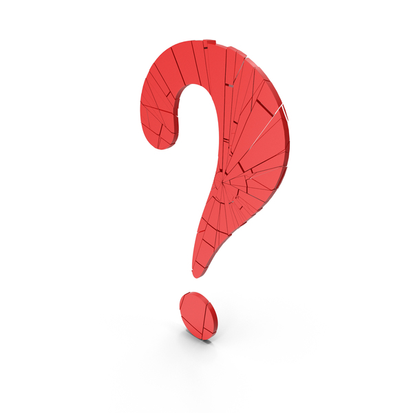 Punctuation: Question Mark Break Red PNG & PSD Images