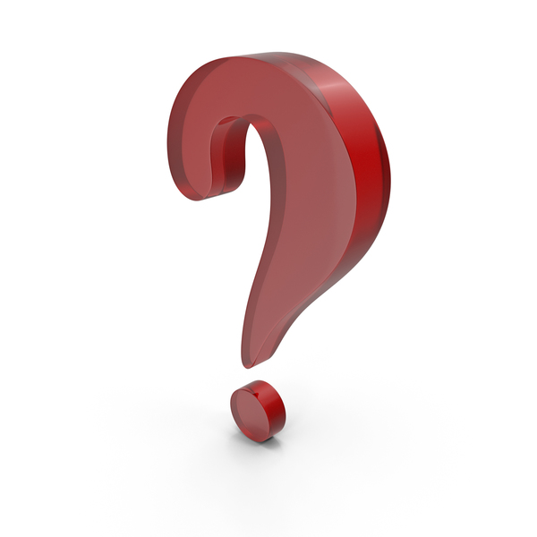 Question Mark Red Glass PNG & PSD Images