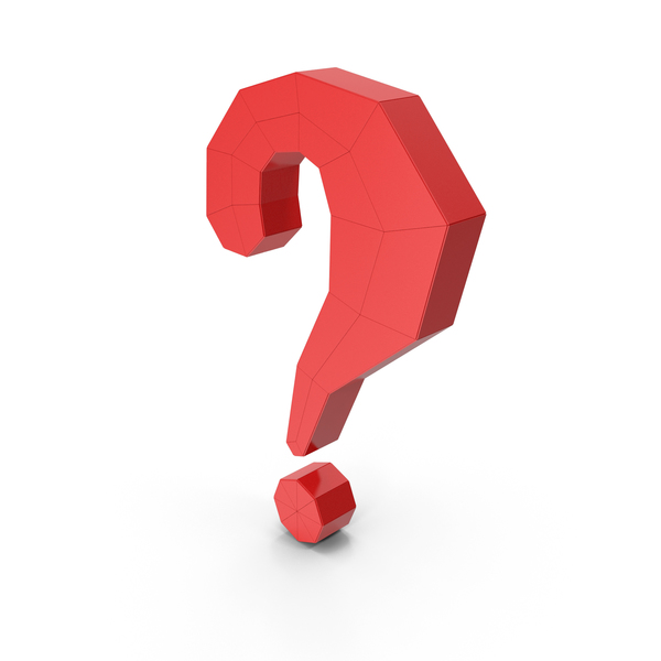 Punctuation: Question Mark Red PNG & PSD Images