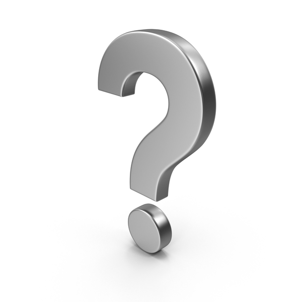 Question Mark Silver PNG & PSD Images