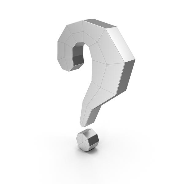Symbols: Question Mark Steel PNG & PSD Images