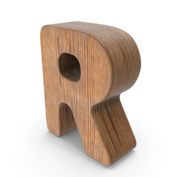 R Wooden Letter PNG & PSD Images