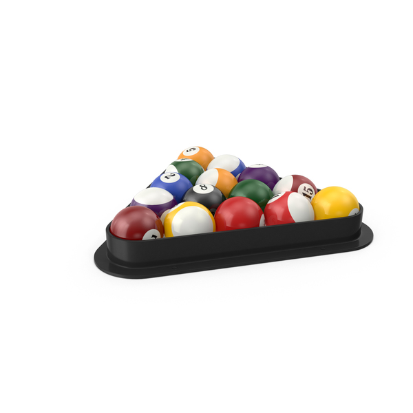 Billiards Table: Racked Balls PNG & PSD Images