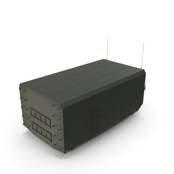 Military Trailer: Radar Cabin PNG & PSD Images
