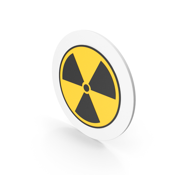 Caution: Radiation Icon PNG & PSD Images