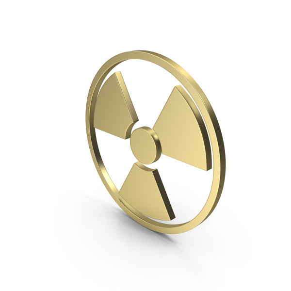 Radiation Sign Gold PNG & PSD Images