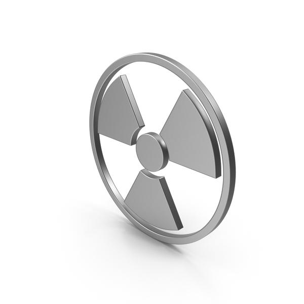Radioactive Logo: Radiation Sign Metal PNG & PSD Images