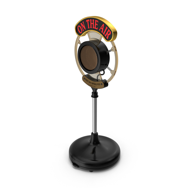 Retro: Radio Broadcast Microphone PNG & PSD Images