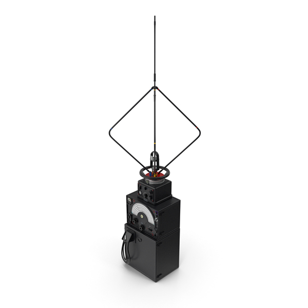 Radio Direction Finder Antenna with Amplifier PNG & PSD Images