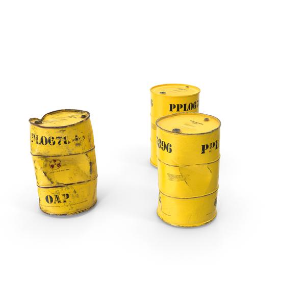 Radioactive Waste Barrels Set PNG & PSD Images