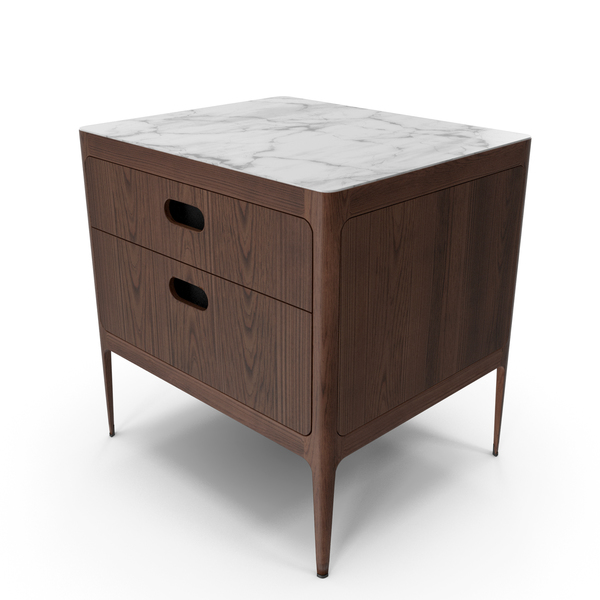 Radius Two Drawer Nightstand PNG & PSD Images