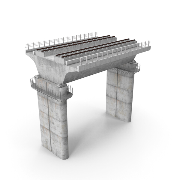 Rail Bridge Section PNG & PSD Images