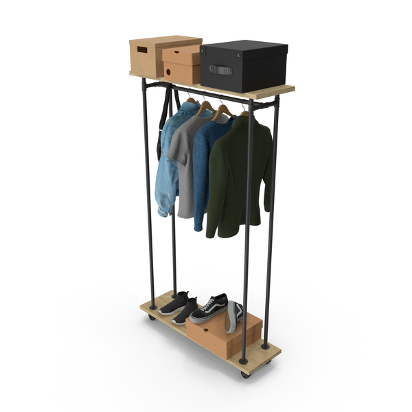 Clothes Stand: Rail Coat With Clothing PNG & PSD Images