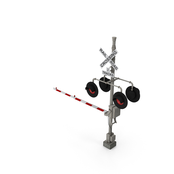 Railroad Crossing Gate PNG & PSD Images