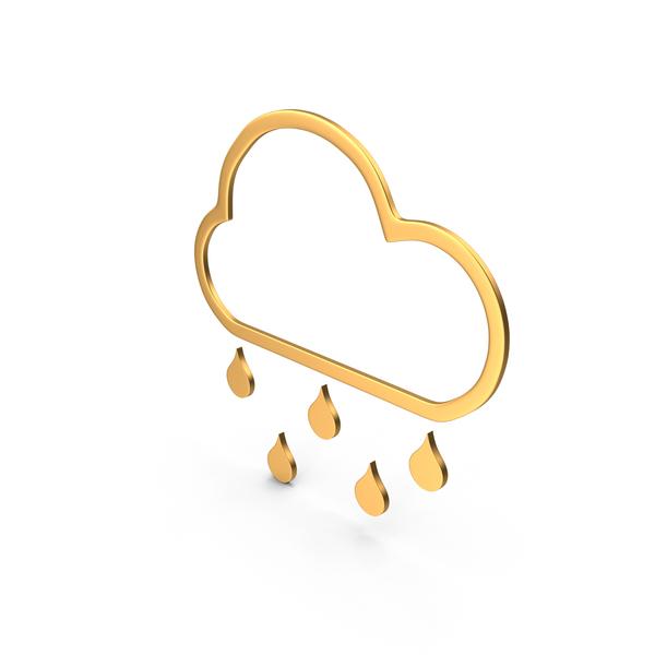 Rain Symbol Gold PNG & PSD Images