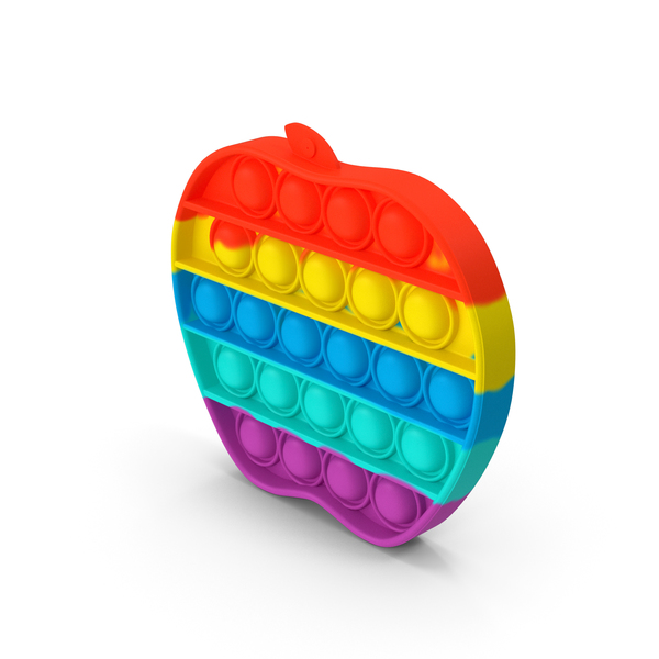 Baby Toys: Rainbow Apple Pop It Toy PNG & PSD Images