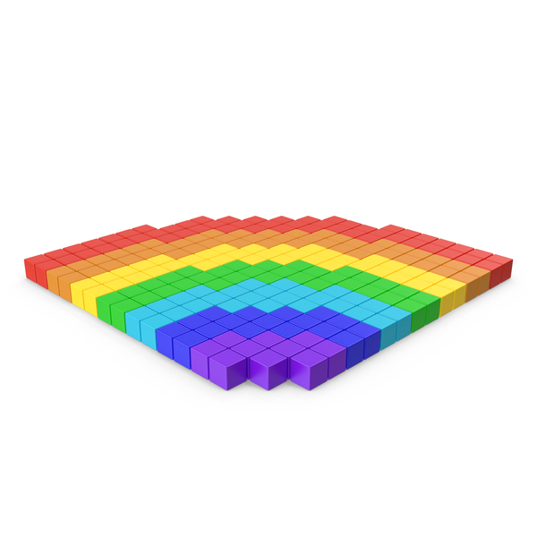 Rainbow Pixelated Icon PNG & PSD Images