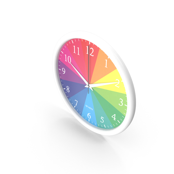 Rainbow Wall Clock PNG & PSD Images