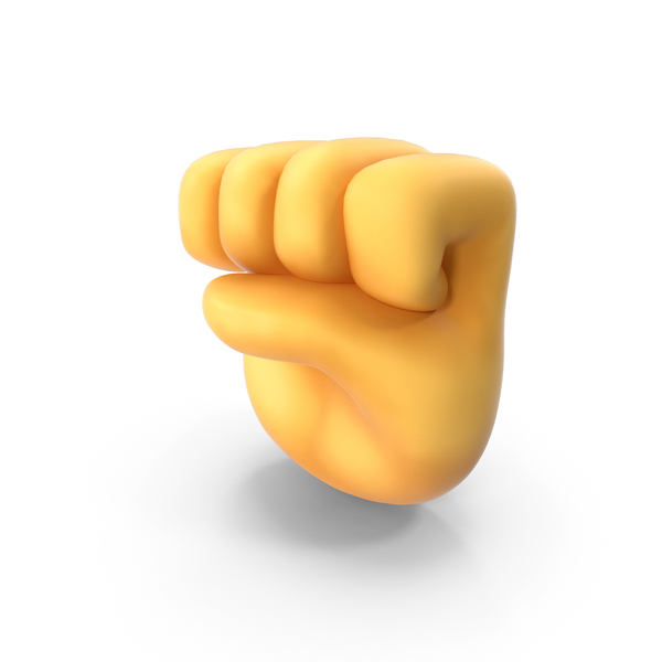 Cartoon Hand: Raised Fist Emoji PNG & PSD Images