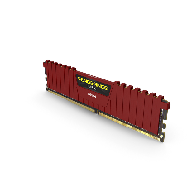 Computer Components: RAM Corsair Vengeance Red PNG & PSD Images