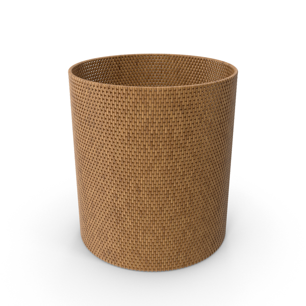 Wicker: Rattan Wastepaper Basket PNG & PSD Images
