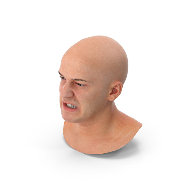 Male: Real PBR Marcus Human Head Lip Thightener PNG & PSD Images
