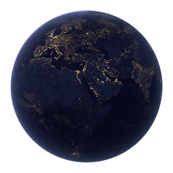 Realistic Earth at night PNG & PSD Images