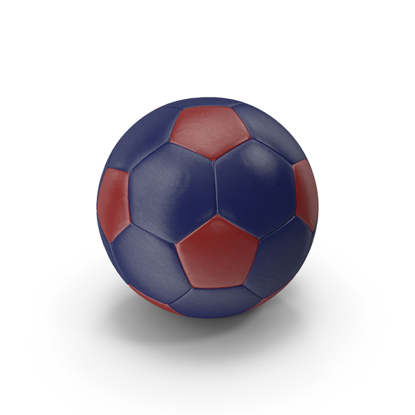 Realistic Leather Soccer Ball Red Blue PNG & PSD Images