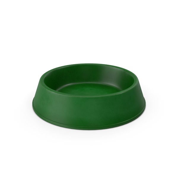 Realistic Pet Bowl Green PNG & PSD Images
