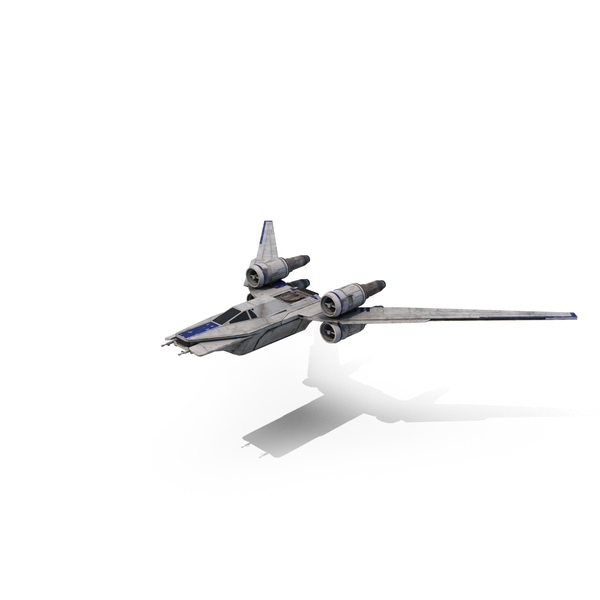 Space Fighter: Rebel Starfighter (U-Wing) Flying PNG & PSD Images