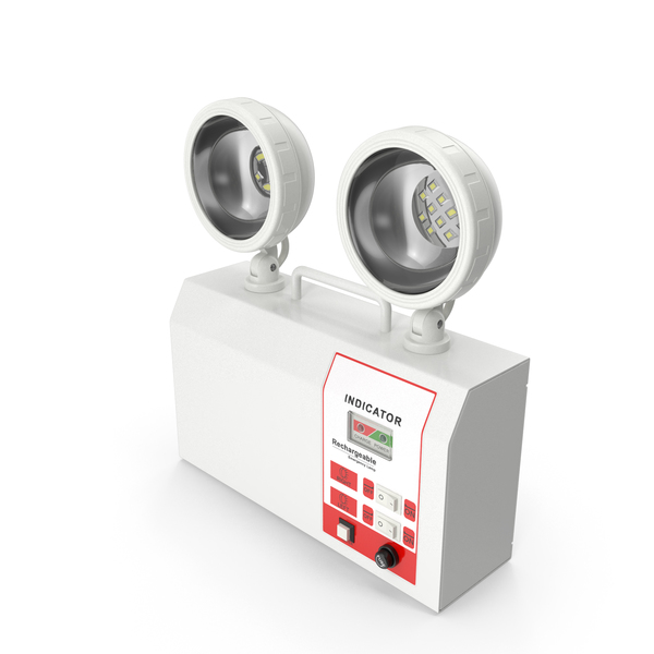 Siren Alarm: Rechargeable Twin LED Emergency Lamp PNG & PSD Images