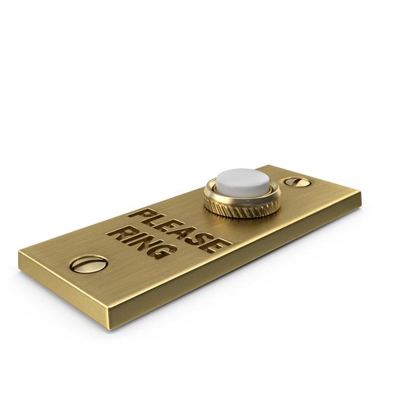 Rectangular Doorbell Gold PNG & PSD Images