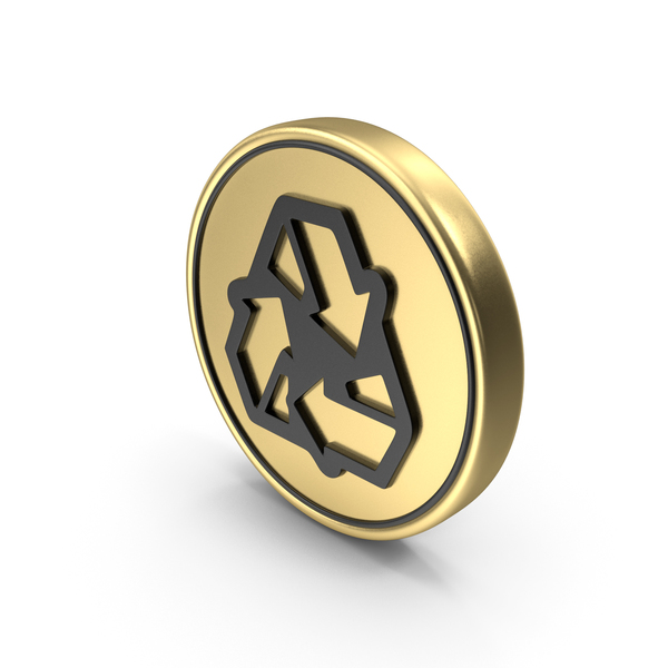 Recycle coin Logo Symbol Icon PNG & PSD Images