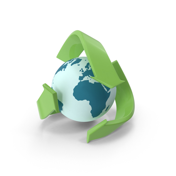 Recycle Logo With Globe PNG & PSD Images