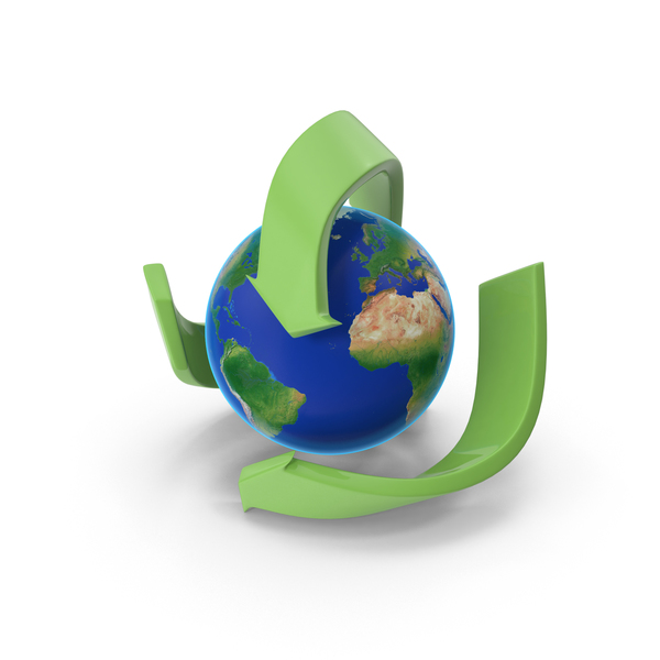 Logo: Recycle with Earth PNG & PSD Images