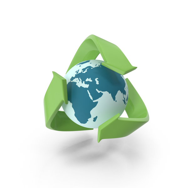 Recycle with Globe PNG & PSD Images