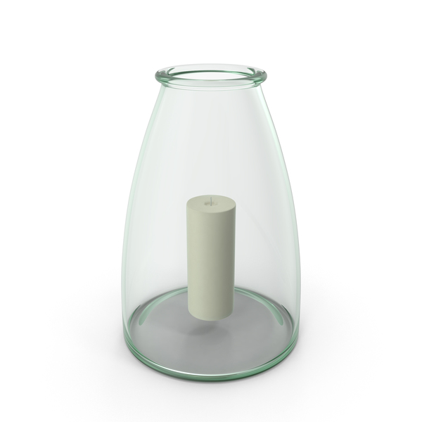 Candlestick: Recycled Glass Hurricane Candle Holder PNG & PSD Images