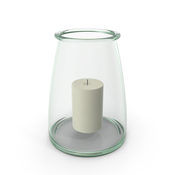 Recycled Glass Hurricane Candle Holder PNG & PSD Images