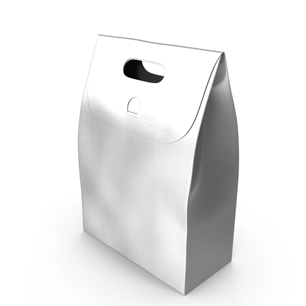 Recycled Paper Bag Silver PNG & PSD Images