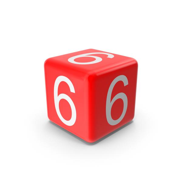 Red 6 Cube Object