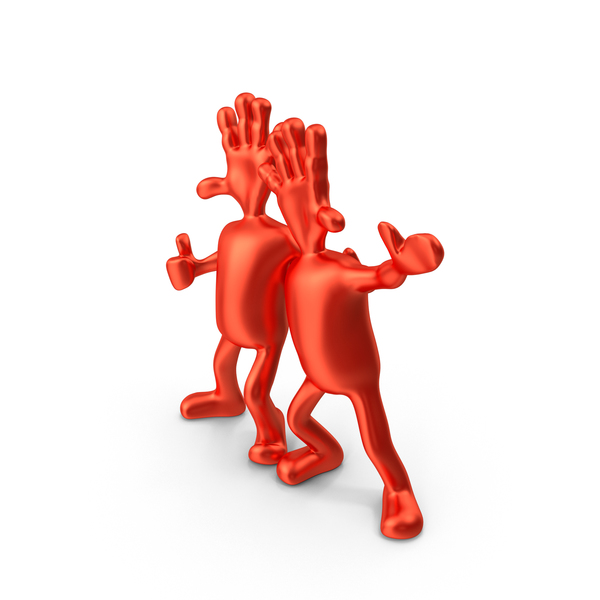Red Abstract Figurine Friends PNG & PSD Images
