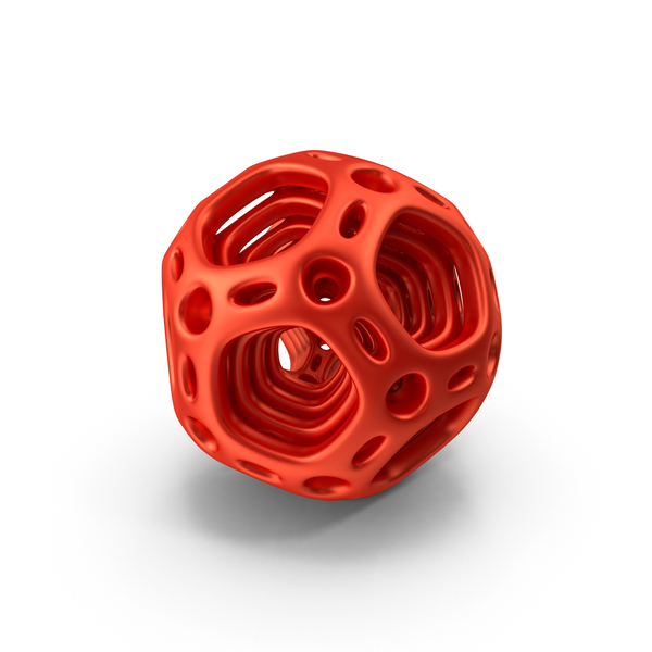 Red Abstract Nested Dodecahedron PNG & PSD Images