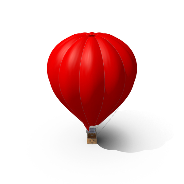 Hot: Red Air Balloon PNG & PSD Images