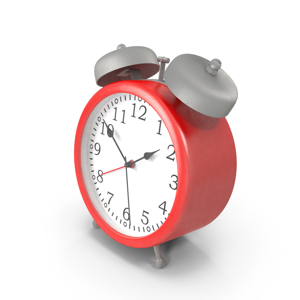 Red Alarm Clock PNG & PSD Images
