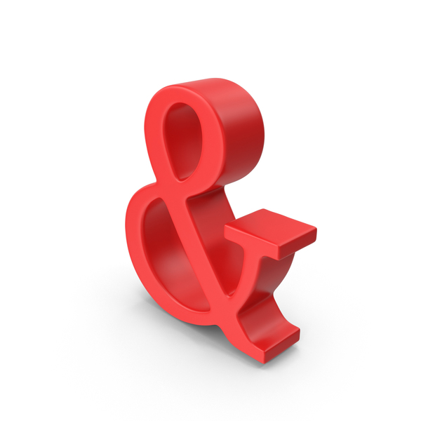 Red Ampersand Symbol PNG & PSD Images