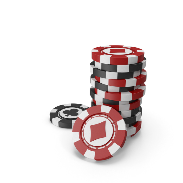 Red and Black Chips for Casino PNG & PSD Images