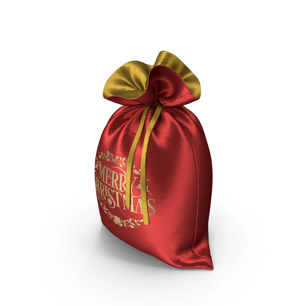 Red and Gold Christmas Bag PNG & PSD Images