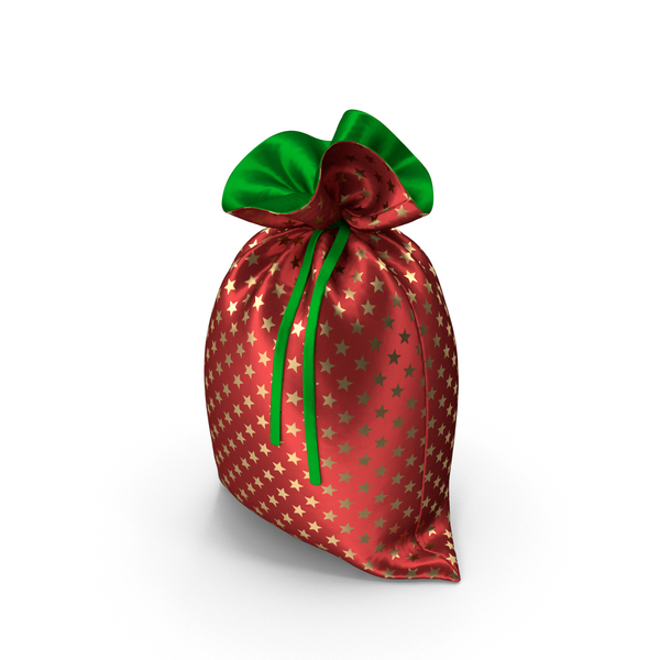 Red and Green Christmas Bag with Gifts PNG & PSD Images