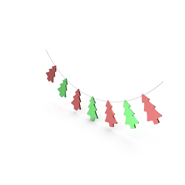 Red and Green Christmas Tree Garland PNG & PSD Images